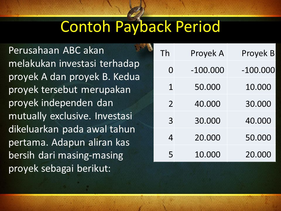Contoh Payback Period
