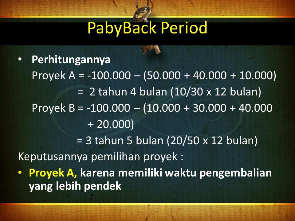 PabyBack Period Perhitungannya