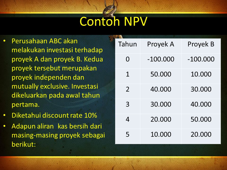 Contoh NPV