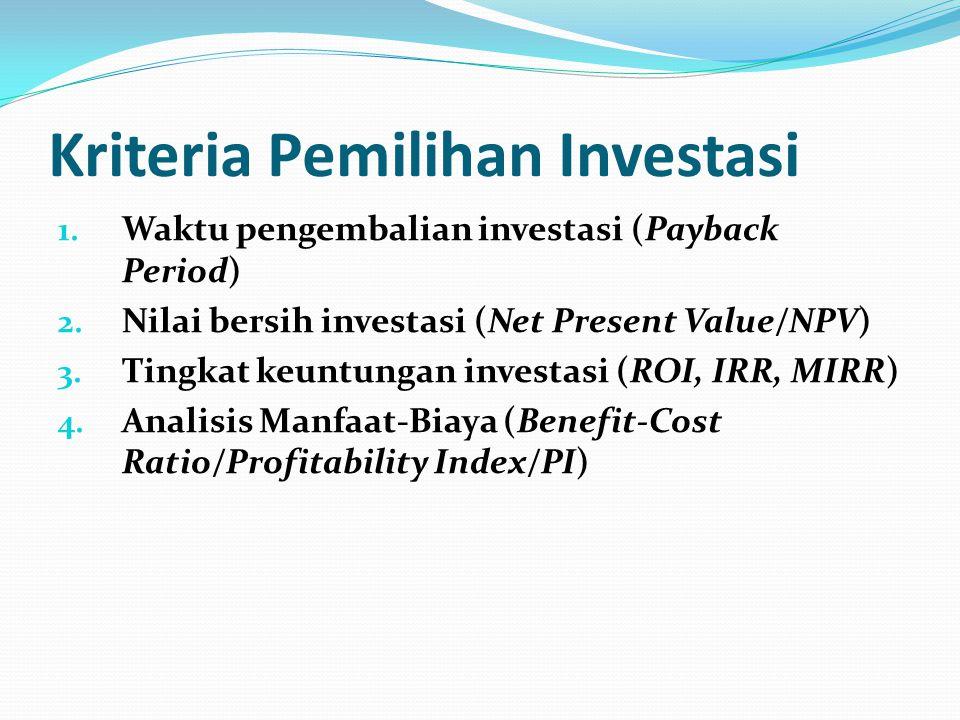 Kriteria Pemilihan Investasi
