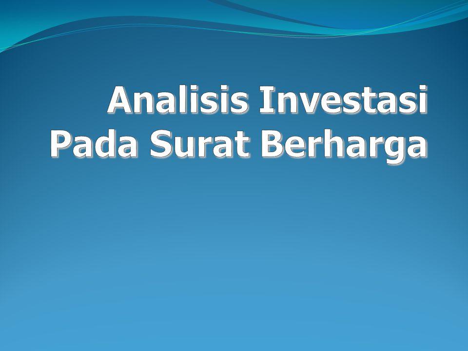 Analisis Investasi Pada Surat Berharga