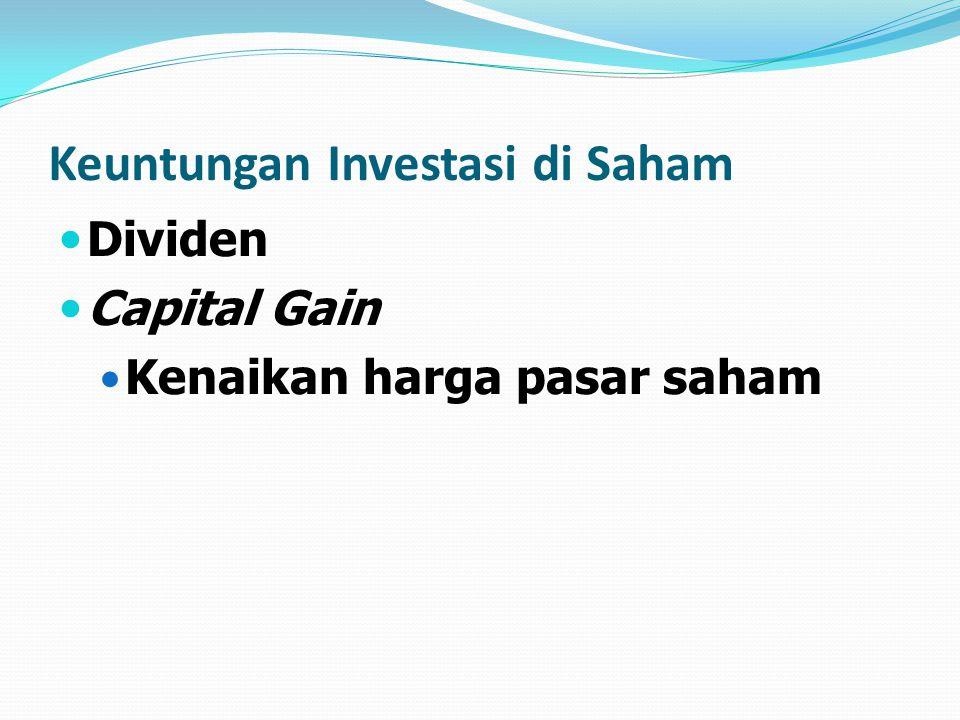 Keuntungan Investasi di Saham