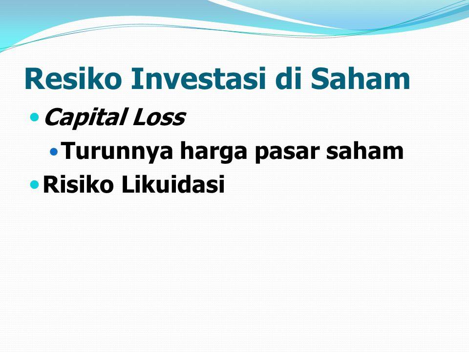 Resiko Investasi di Saham