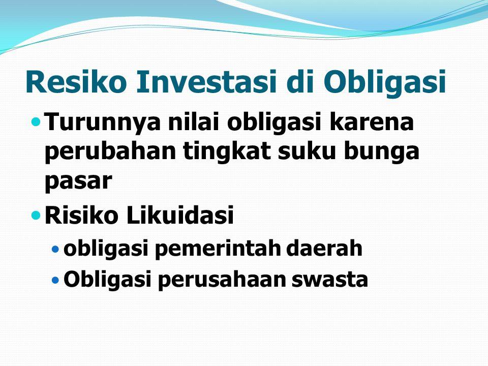 Resiko Investasi di Obligasi