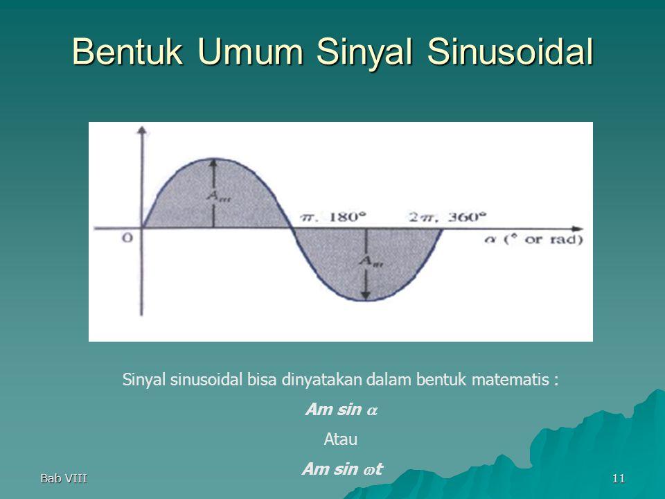 Bentuk Umum Sinyal Sinusoidal
