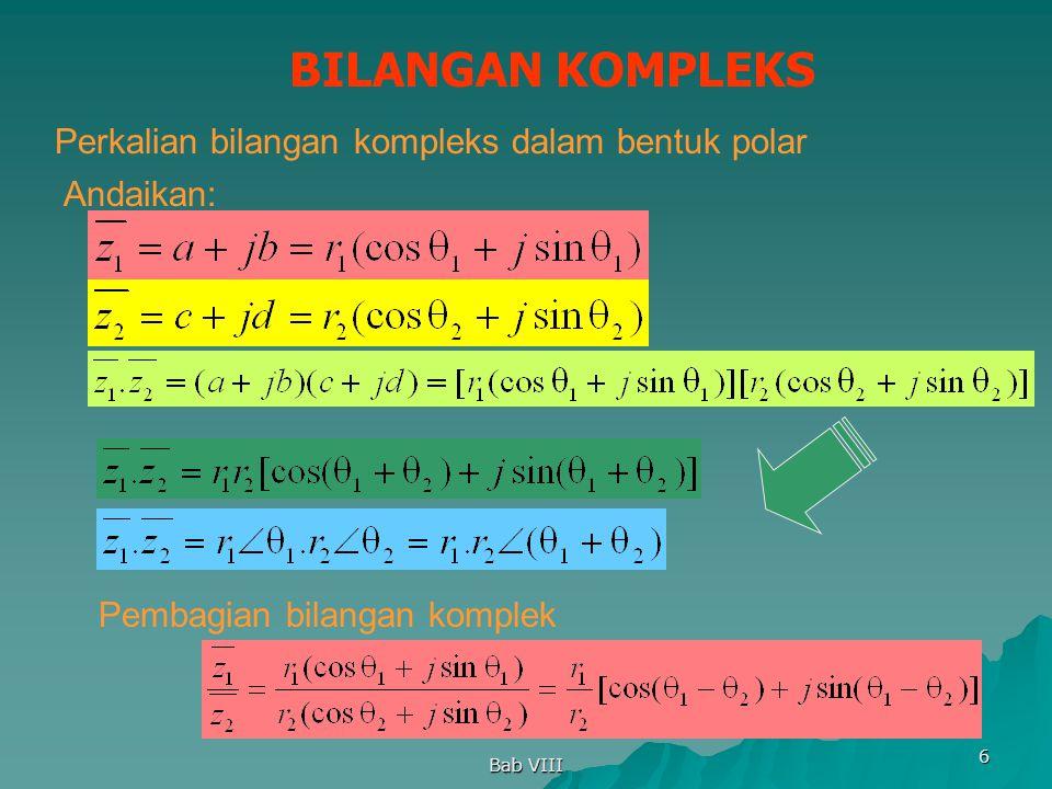 BILANGAN KOMPLEKS Perkalian bilangan kompleks dalam bentuk polar