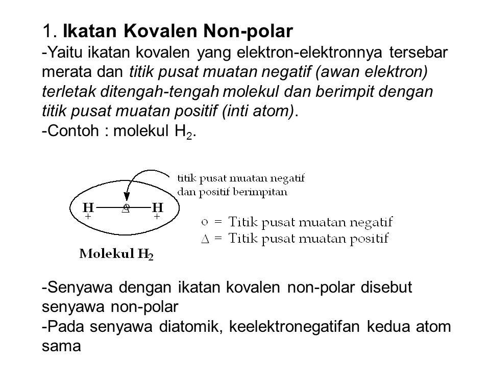 1. Ikatan Kovalen Non-polar