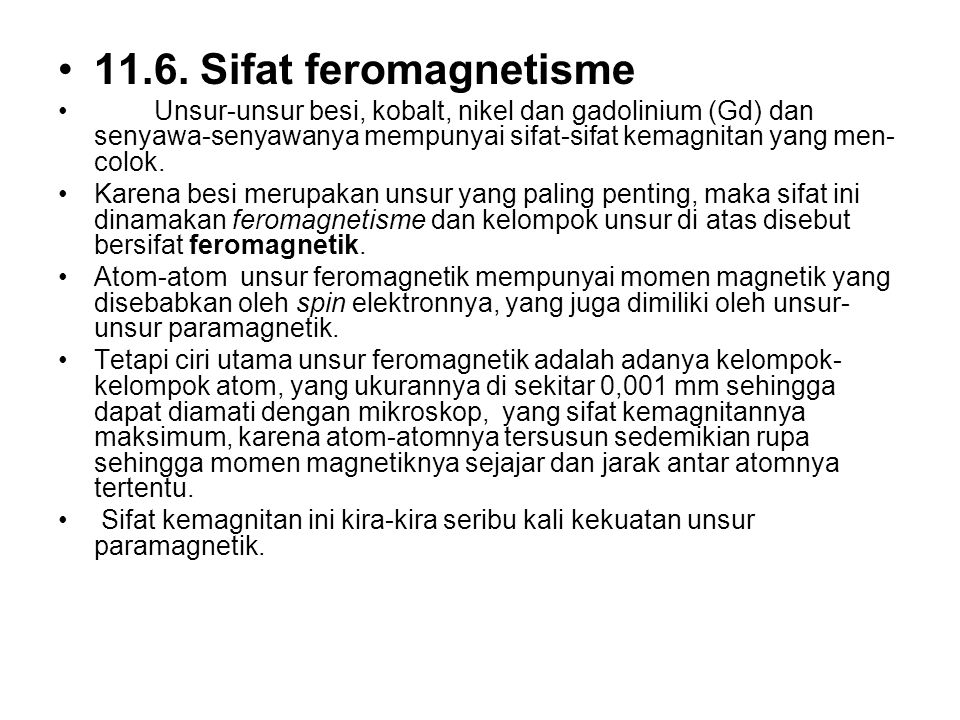 11.6. Sifat feromagnetisme