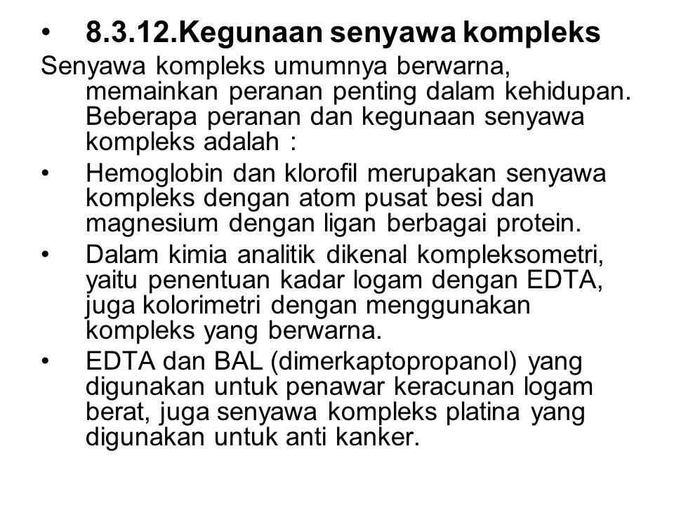 8.3.12.Kegunaan senyawa kompleks