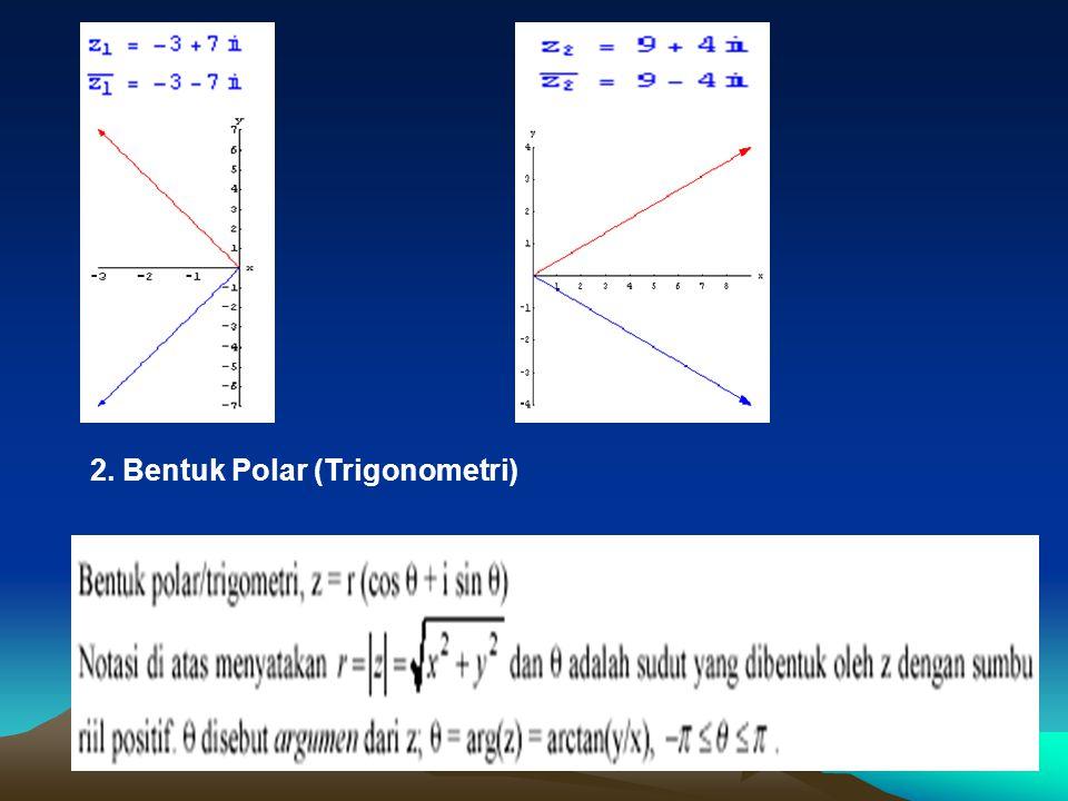 2. Bentuk Polar (Trigonometri)