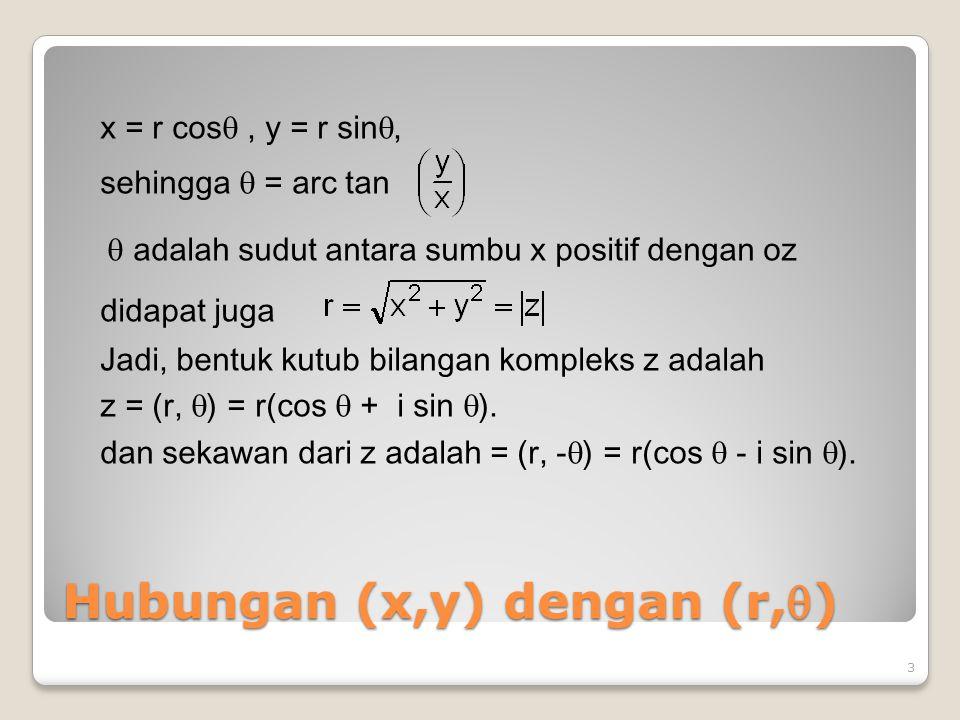 Hubungan (x,y) dengan (r,)