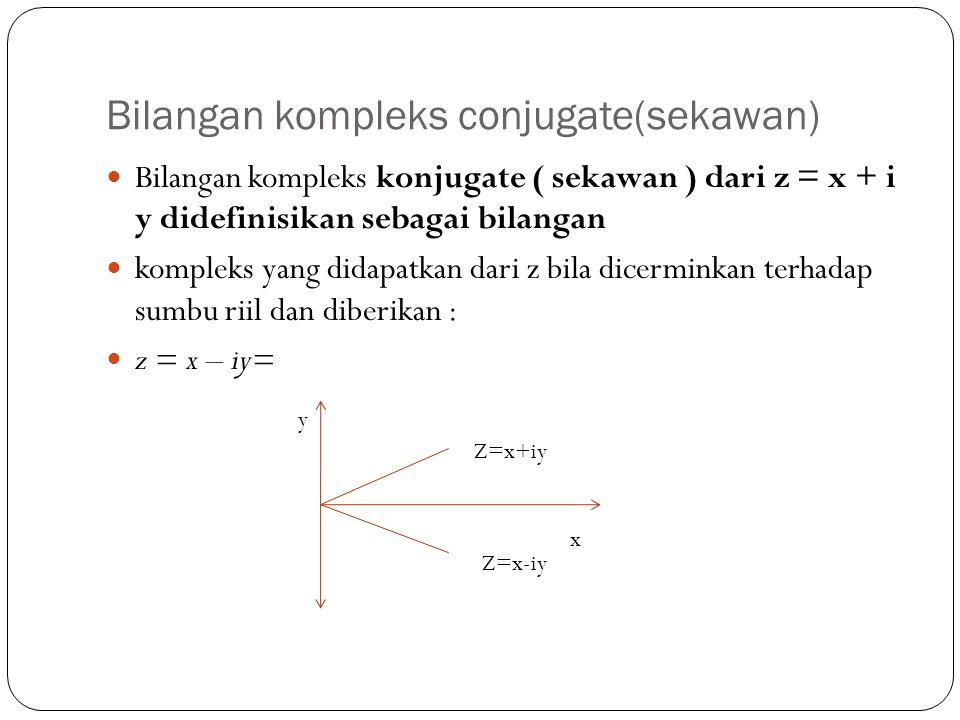 Bilangan kompleks conjugate(sekawan)