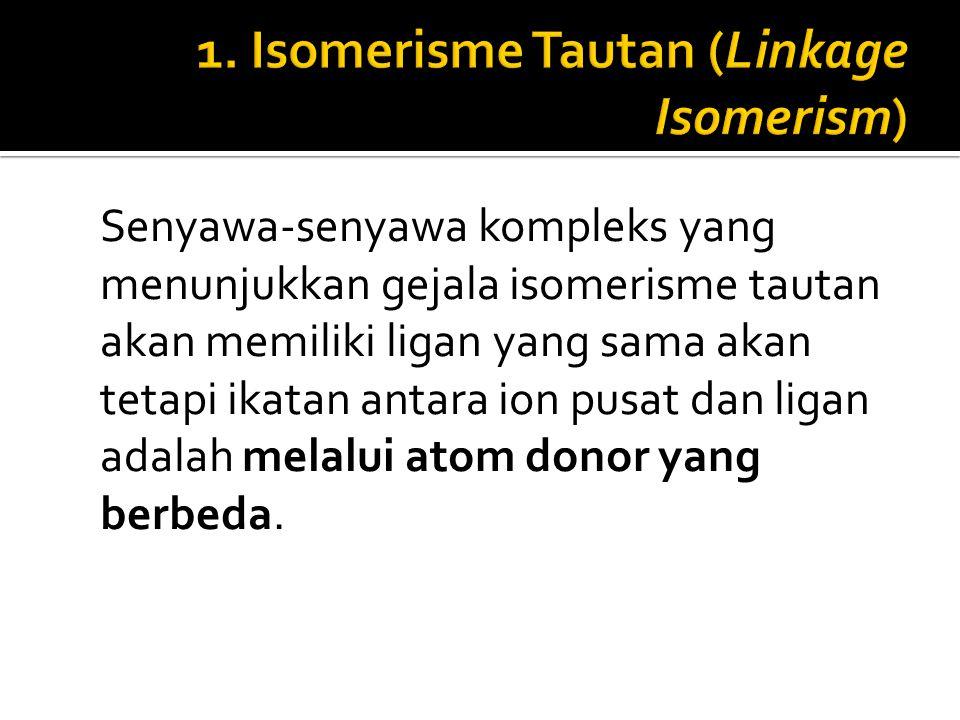 1. Isomerisme Tautan (Linkage Isomerism)