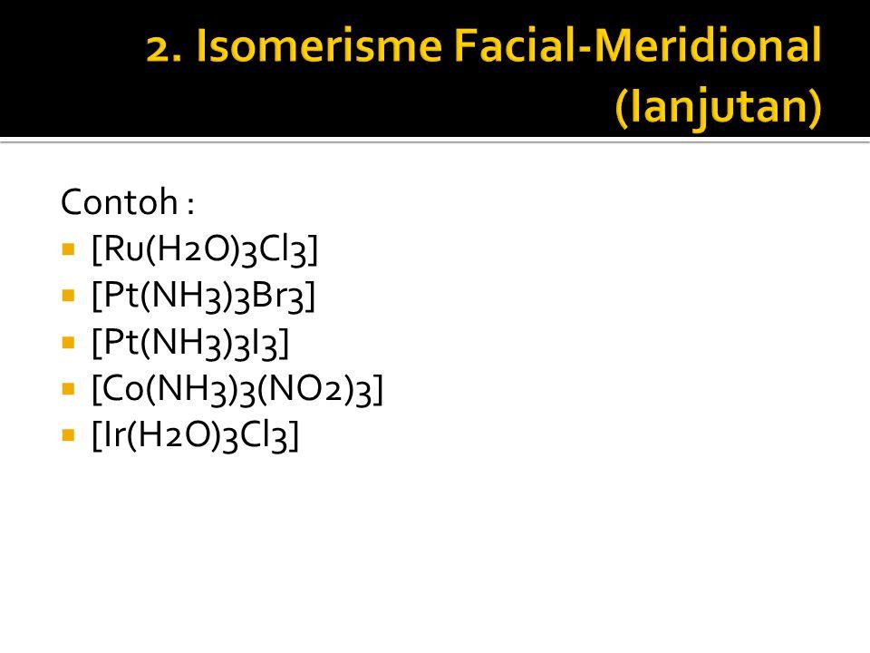 2. Isomerisme Facial-Meridional (Ianjutan)