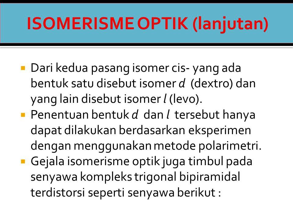 ISOMERISME OPTIK (lanjutan)