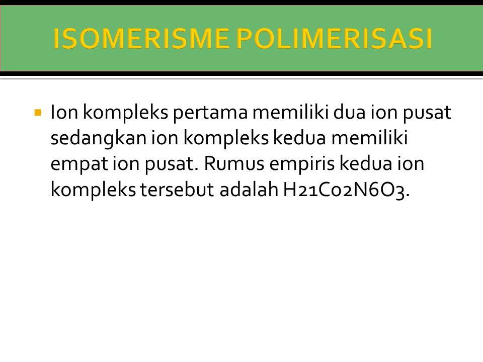 ISOMERISME POLIMERISASI