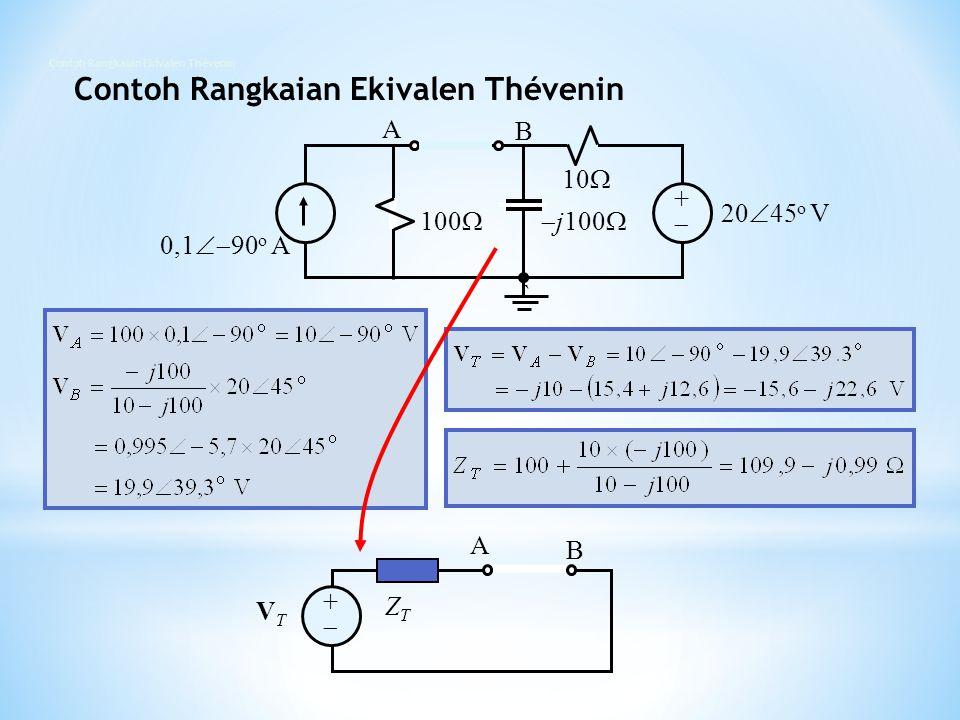 Contoh Rangkaian Ekivalen Thévenin