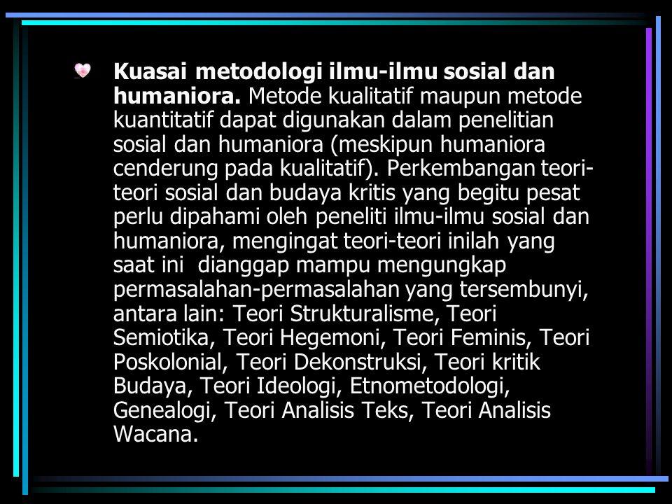 Kuasai metodologi ilmu-ilmu sosial dan humaniora