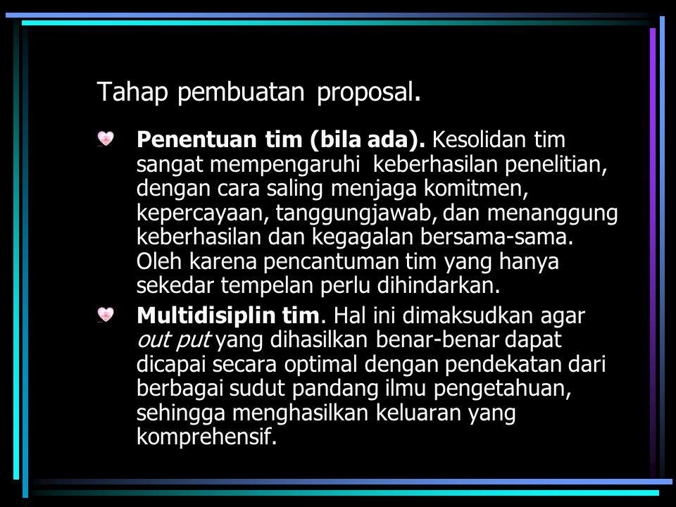 Tahap pembuatan proposal.