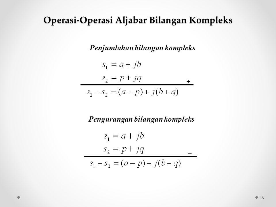 Operasi-Operasi Aljabar Bilangan Kompleks