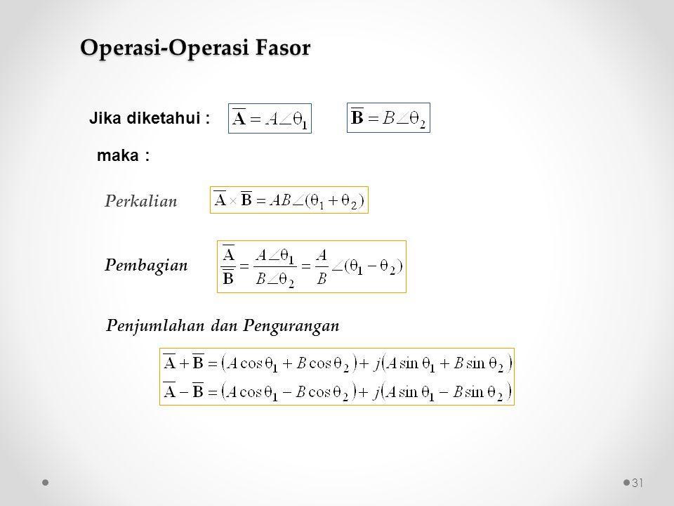 Operasi-Operasi Fasor
