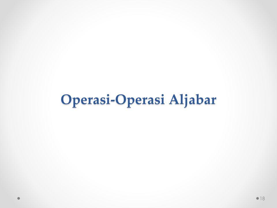 Operasi-Operasi Aljabar