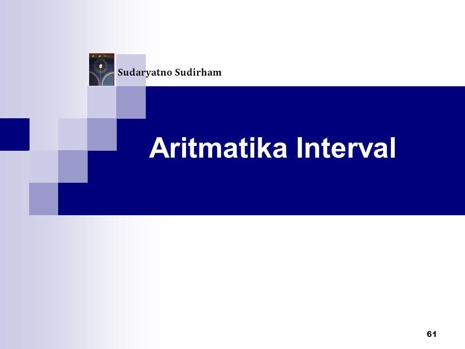 Sudaryatno Sudirham Aritmatika Interval