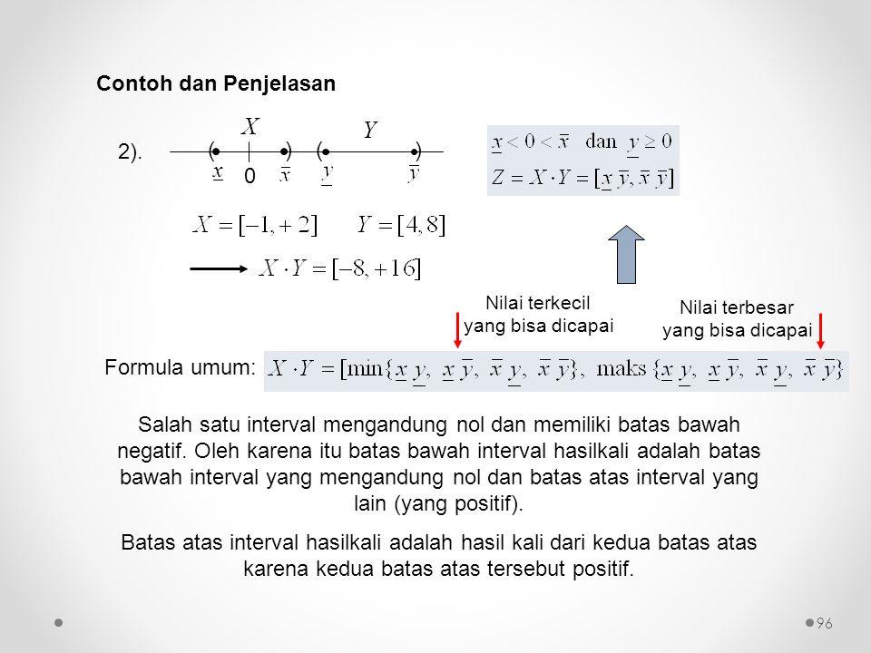 X Y Contoh dan Penjelasan 2). ( ) x Formula umum:
