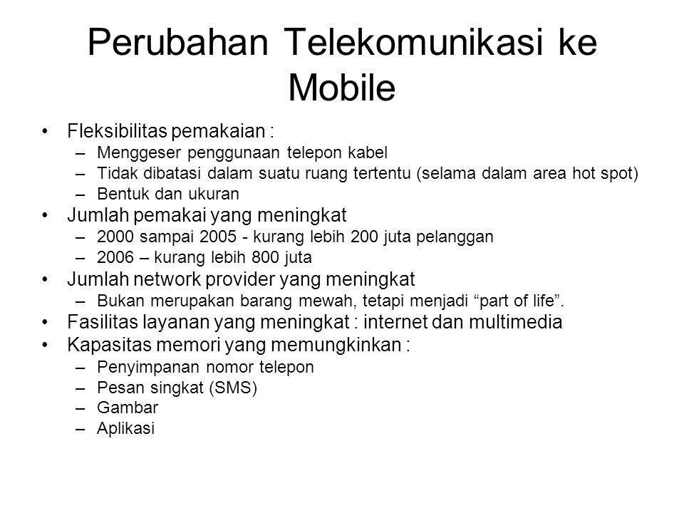 Perubahan Telekomunikasi ke Mobile