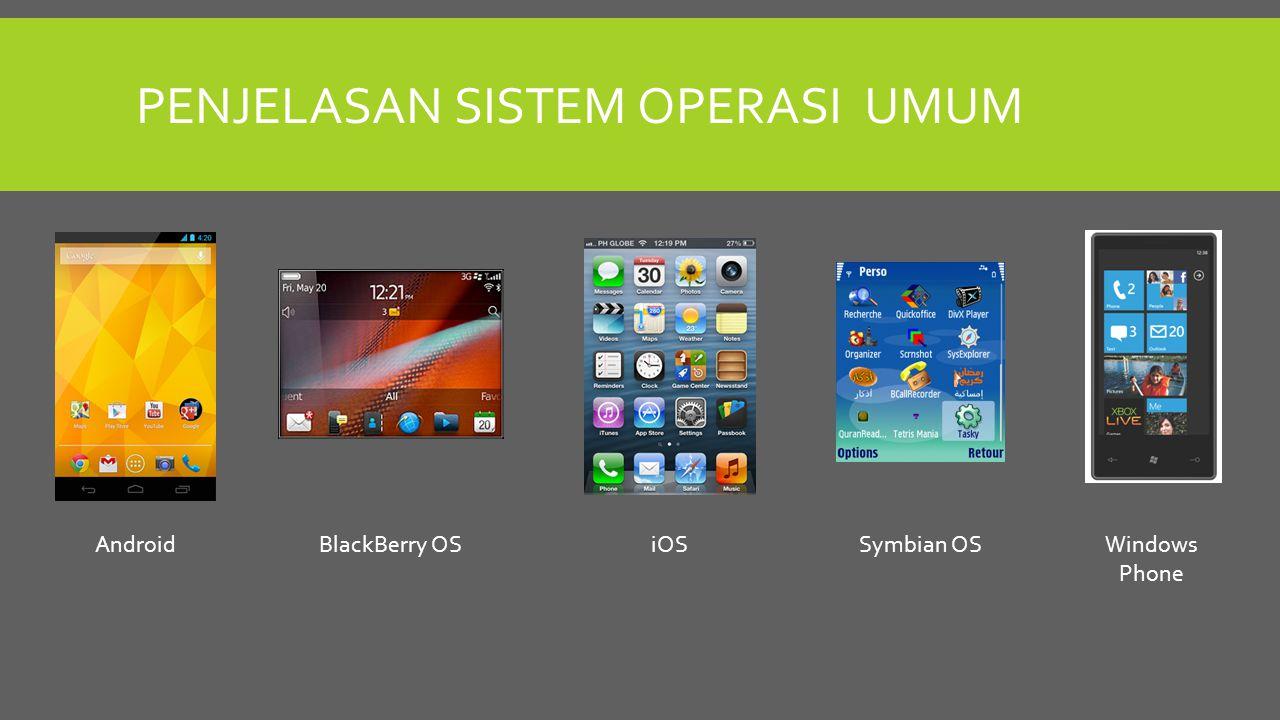 Penjelasan sistem operasi umum