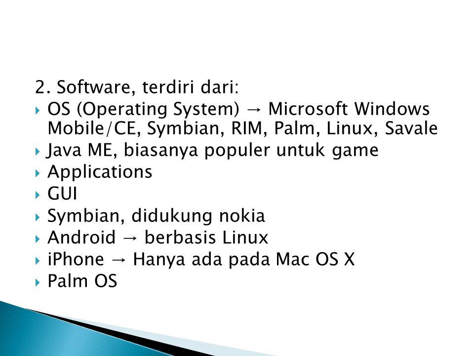 2. Software, terdiri dari: