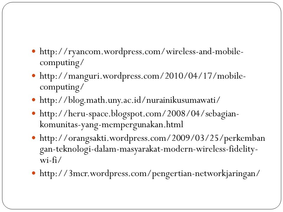 http://ryancom.wordpress.com/wireless-and-mobile- computing/