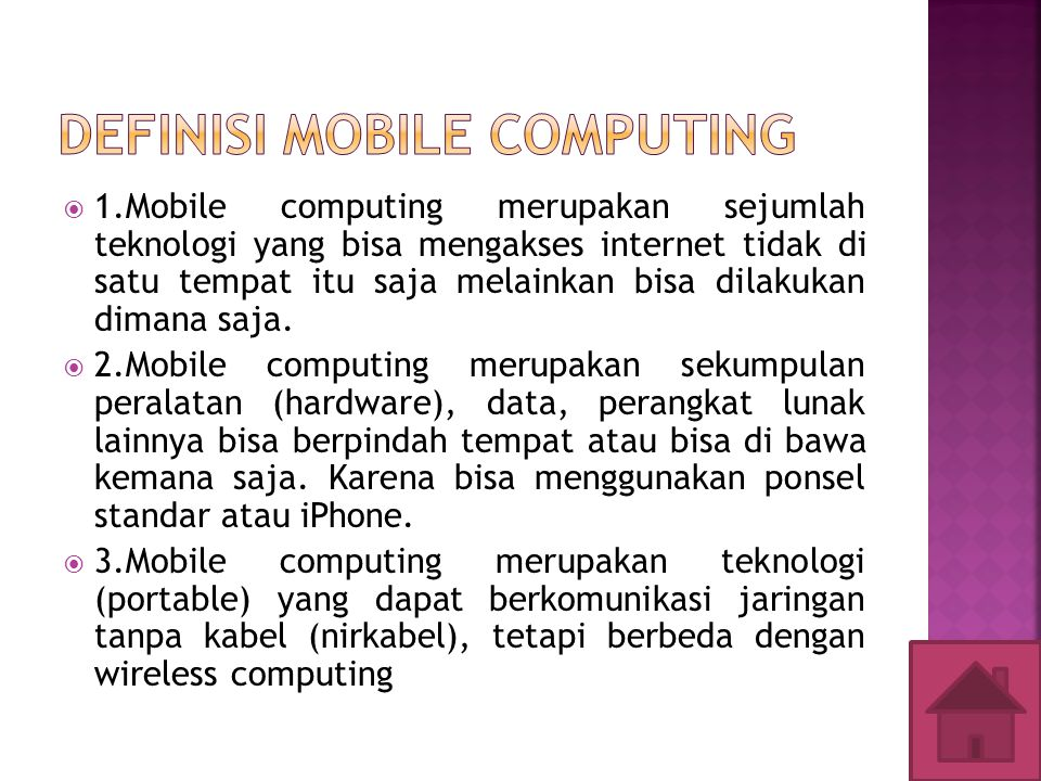 DEFINISI MOBILE COMPUTING