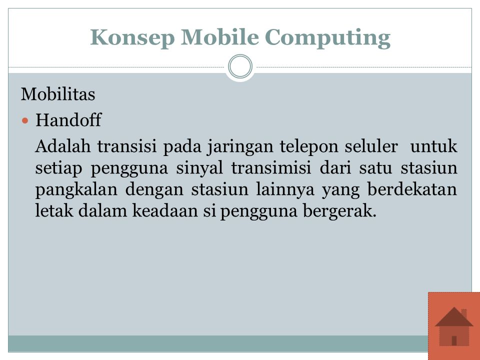 Konsep Mobile Computing