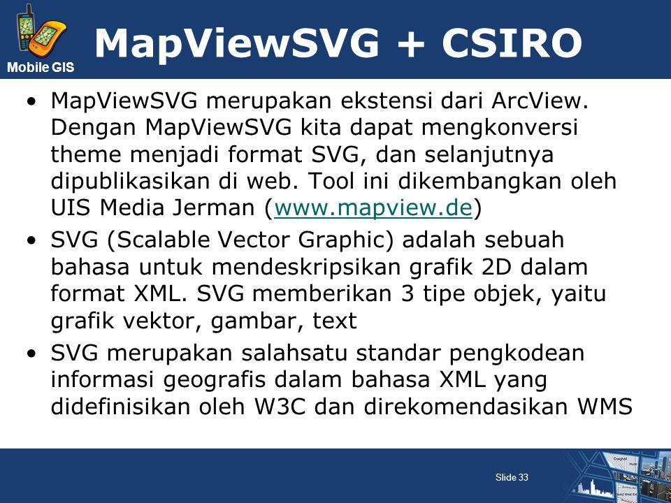 MapViewSVG + CSIRO