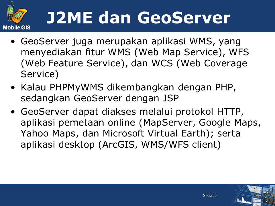 J2ME dan GeoServer