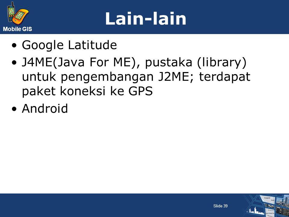 Lain-lain Google Latitude