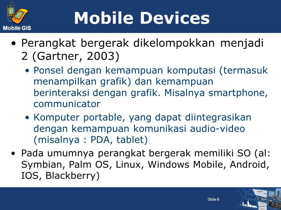 Mobile Devices Perangkat bergerak dikelompokkan menjadi 2 (Gartner, 2003)