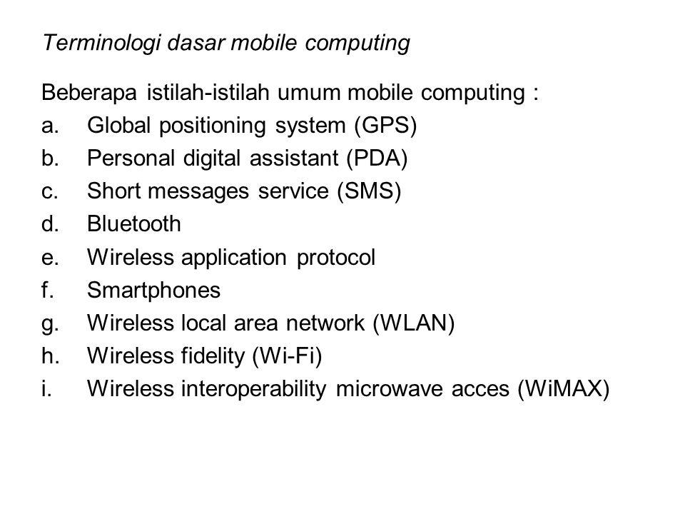 Terminologi dasar mobile computing