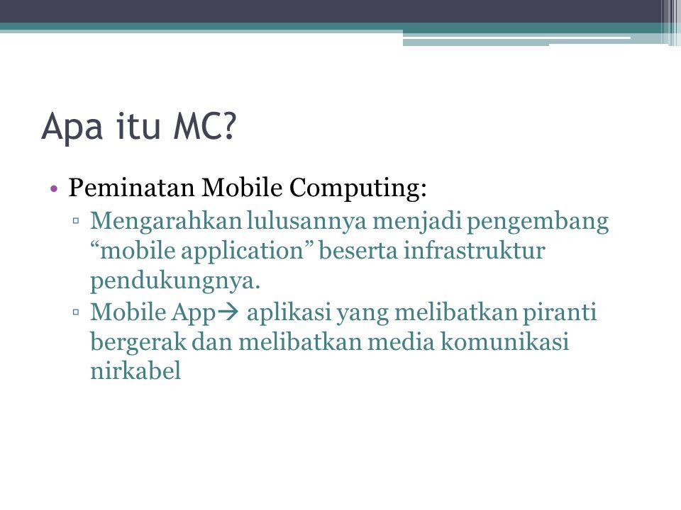 Apa itu MC Peminatan Mobile Computing: