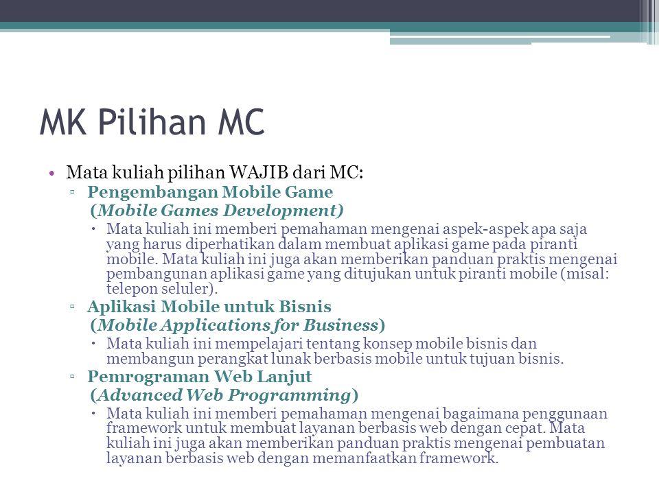 MK Pilihan MC Mata kuliah pilihan WAJIB dari MC: