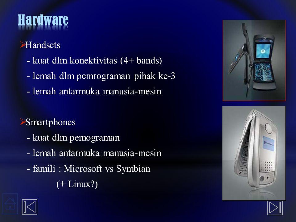 Hardware Handsets - kuat dlm konektivitas (4+ bands)