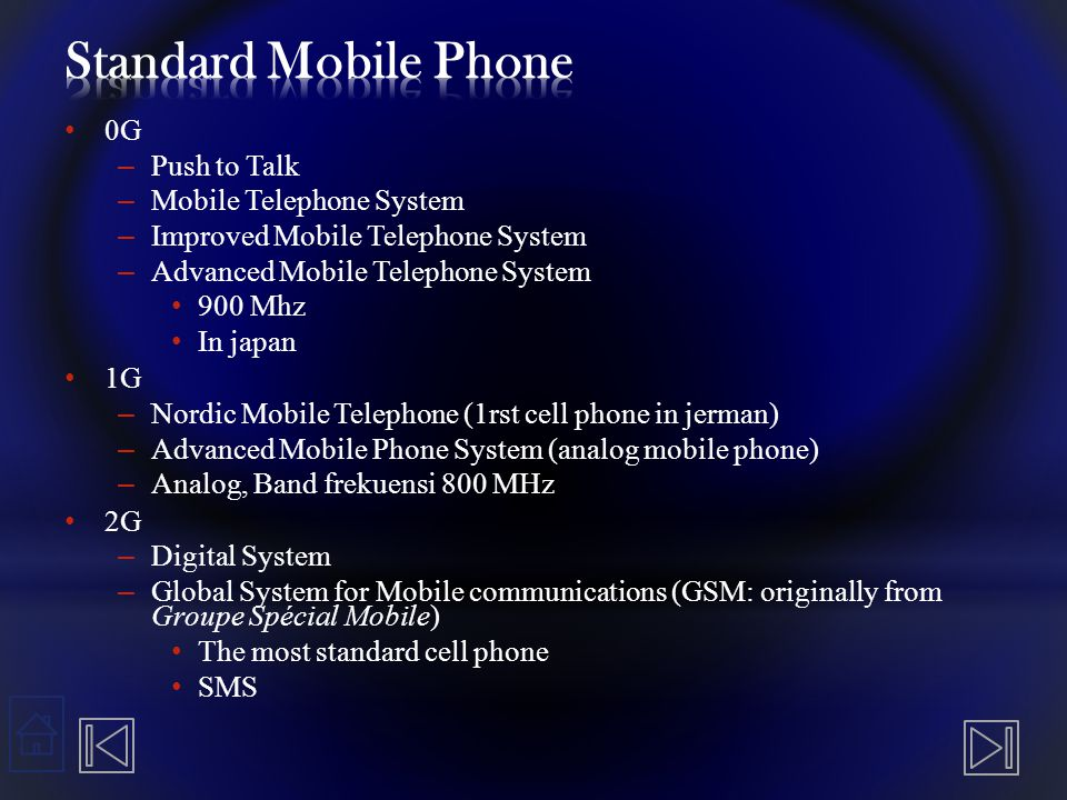 Standard Mobile Phone 0G Push to Talk Mobile Telephone System