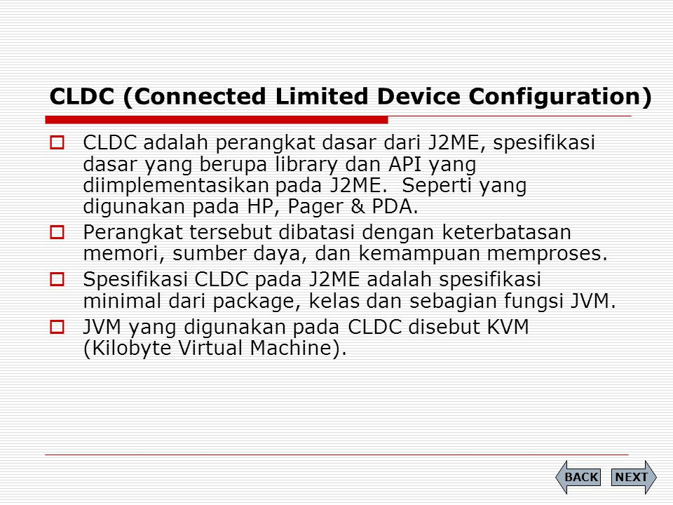 CLDC (Connected Limited Device Configuration)