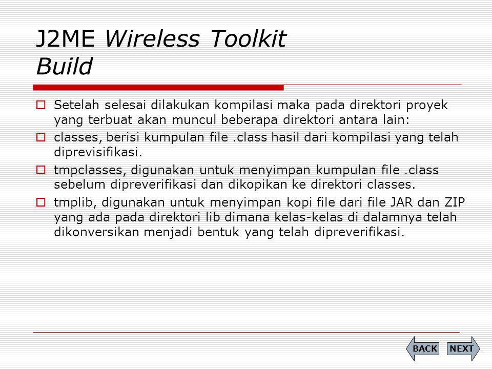 J2ME Wireless Toolkit Build