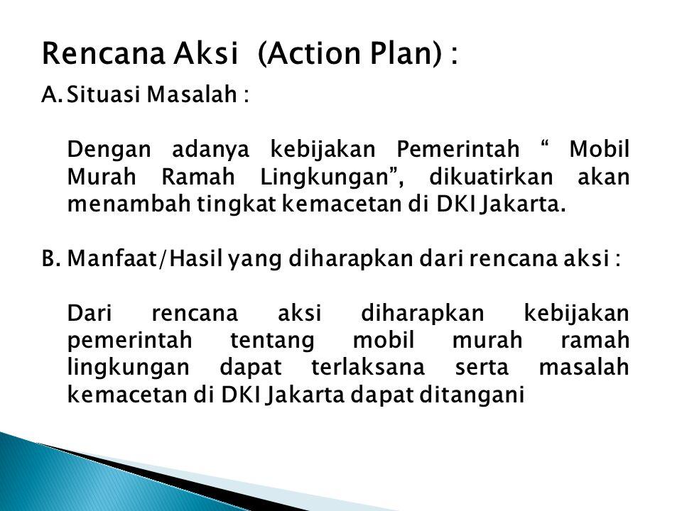 Rencana Aksi (Action Plan) :