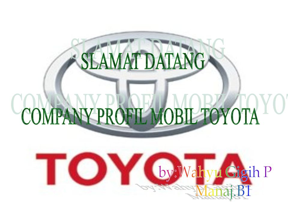COMPANY PROFIL MOBIL TOYOTA