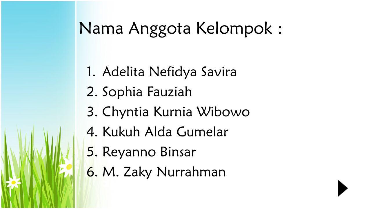 Nama Anggota Kelompok :