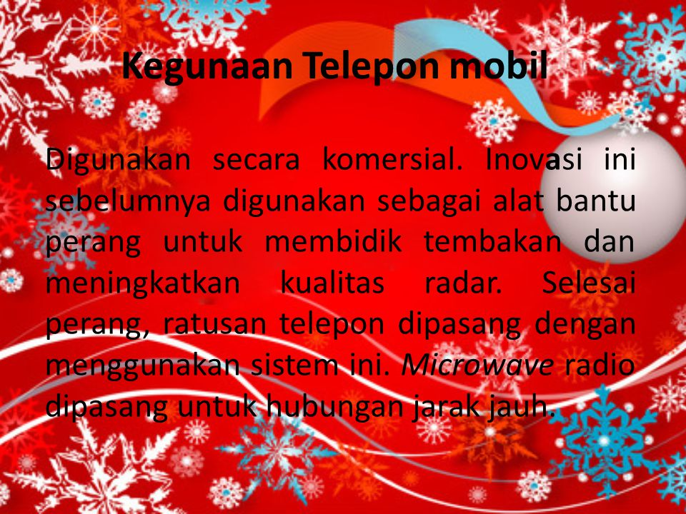 Kegunaan Telepon mobil
