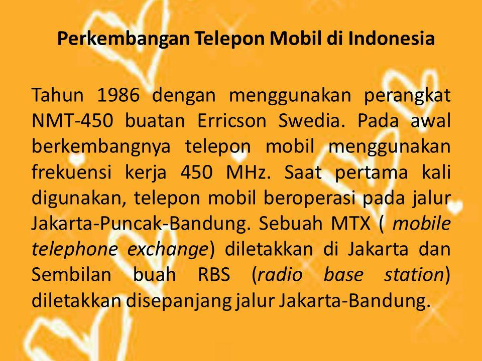 Perkembangan Telepon Mobil di Indonesia